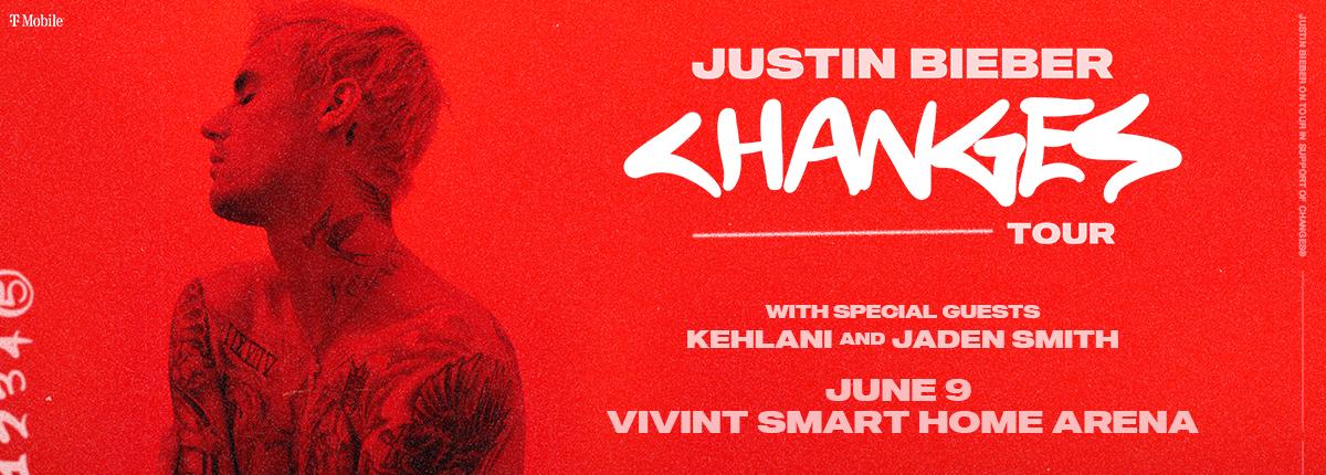 Justin Bieber at the Vivint Smart Home Arena